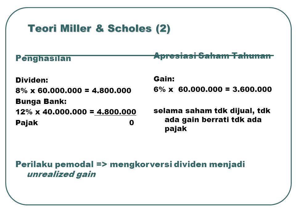 Teori Miller & Scholes (2)