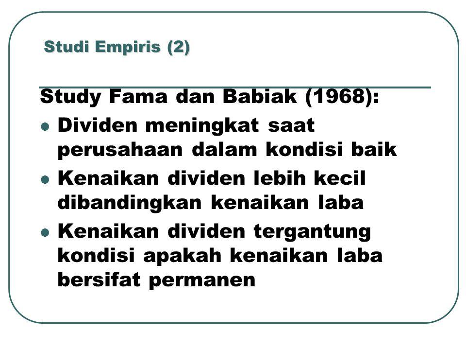Study Fama dan Babiak (1968):