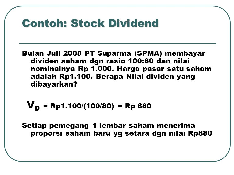 Contoh: Stock Dividend