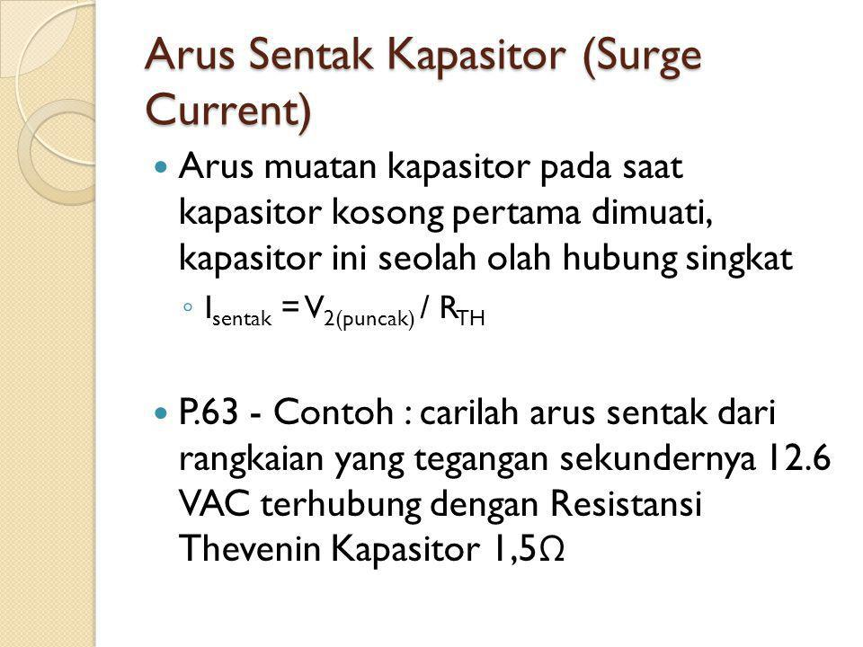 Arus Sentak Kapasitor (Surge Current)