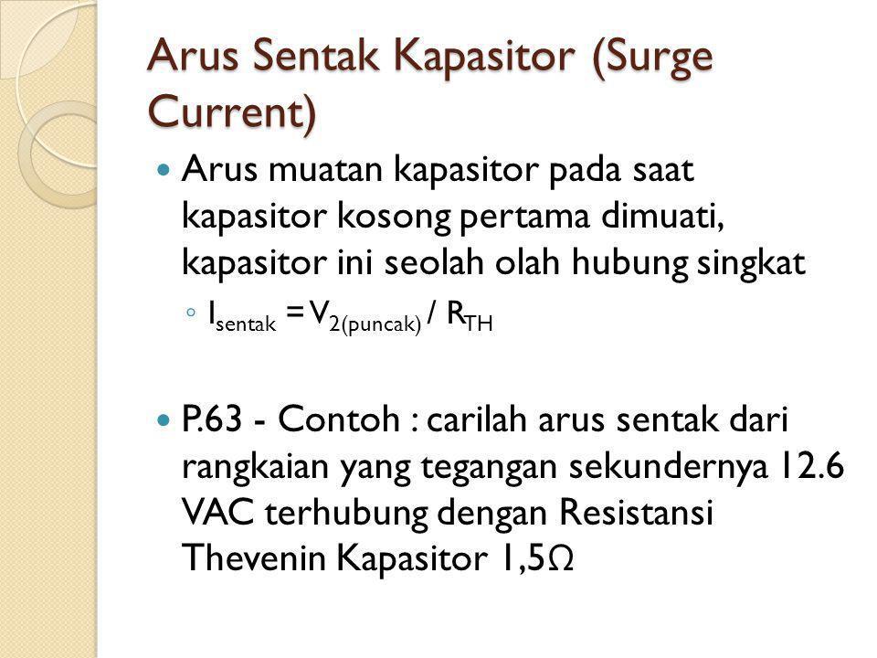 Arus Sentak Kapasitor (Surge Current)