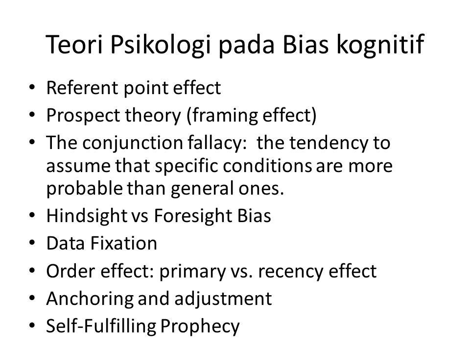 Teori Psikologi pada Bias kognitif