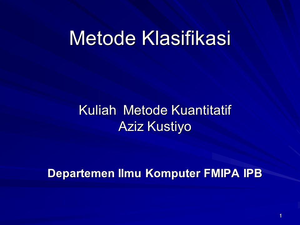 Departemen Ilmu Komputer FMIPA IPB
