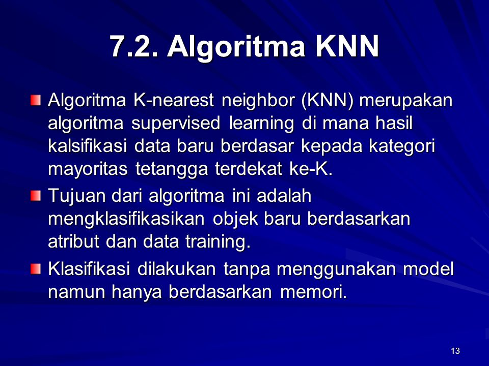 7.2. Algoritma KNN