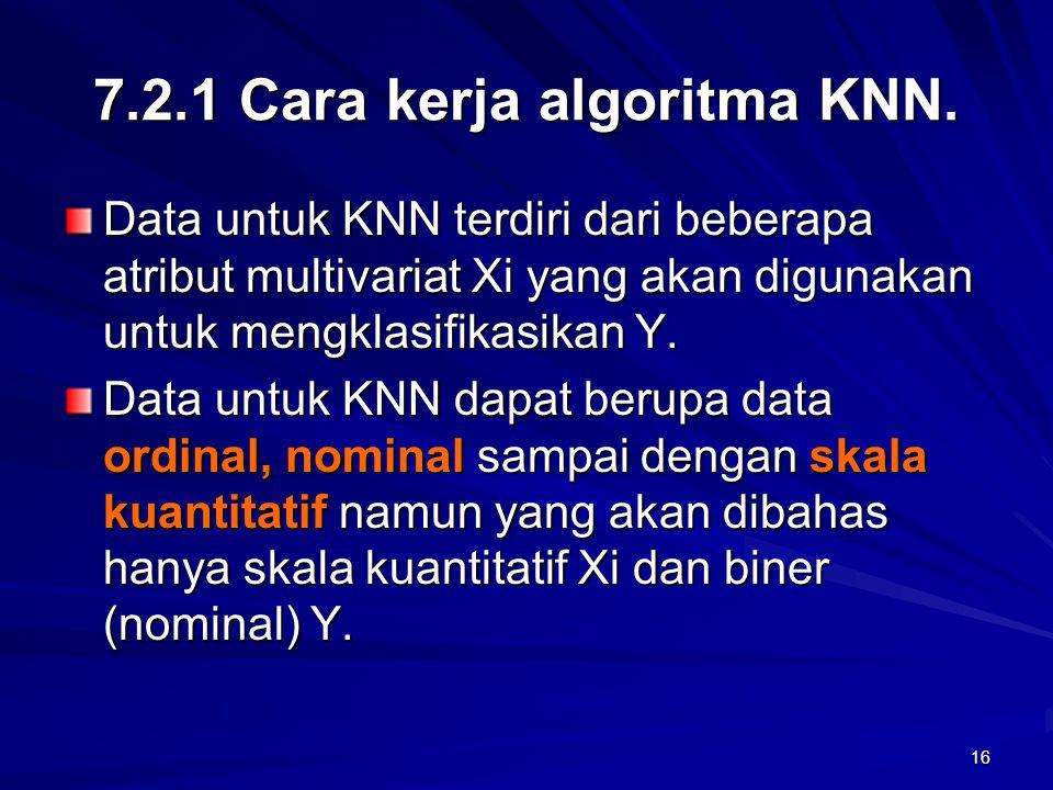 7.2.1 Cara kerja algoritma KNN.