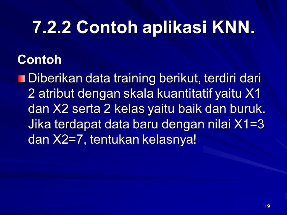 7.2.2 Contoh aplikasi KNN. Contoh