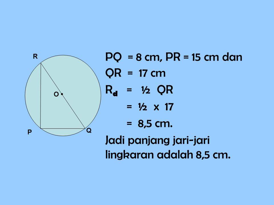 Jadi panjang jari-jari lingkaran adalah 8,5 cm.