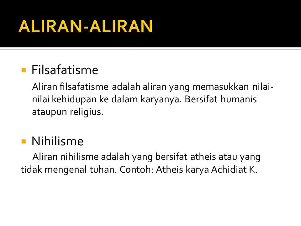 ALIRAN-ALIRAN Filsafatisme Nihilisme