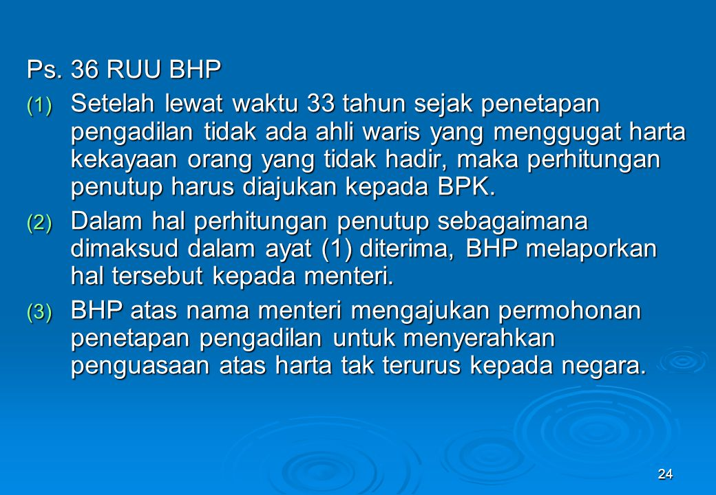 Ps. 36 RUU BHP