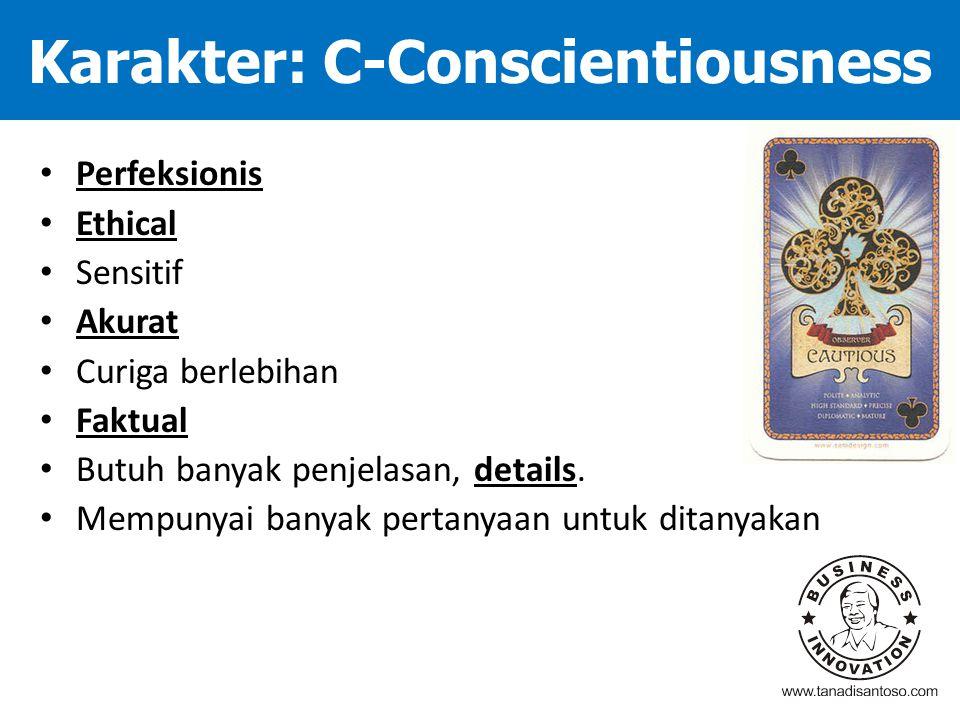 Karakter: C-Conscientiousness