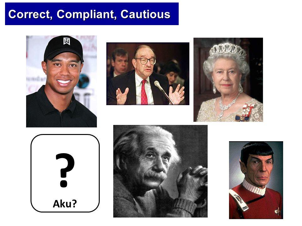 Correct, Compliant, Cautious