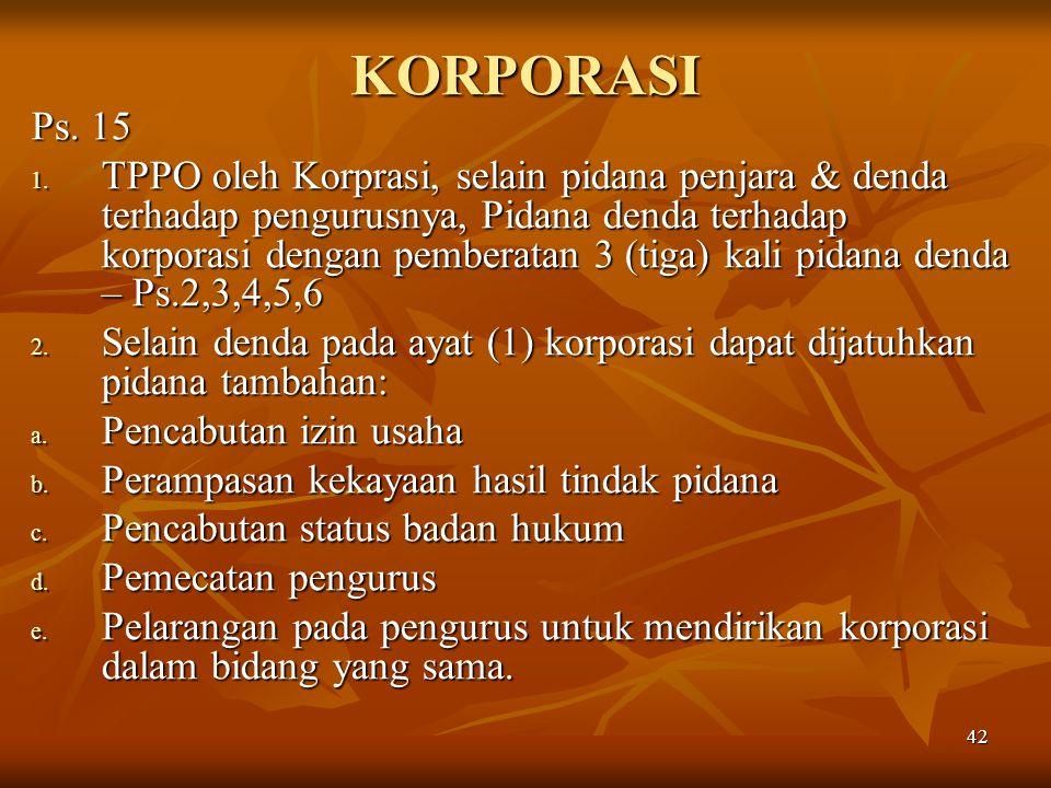 KORPORASI Ps. 15.