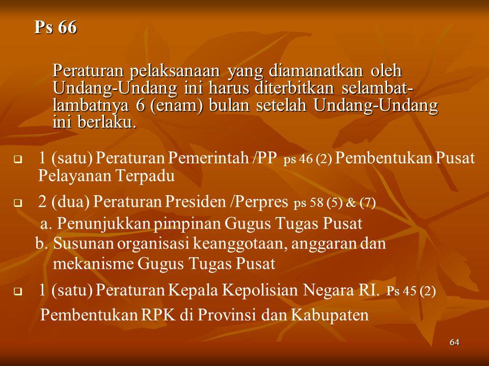 Pembentukan RPK di Provinsi dan Kabupaten