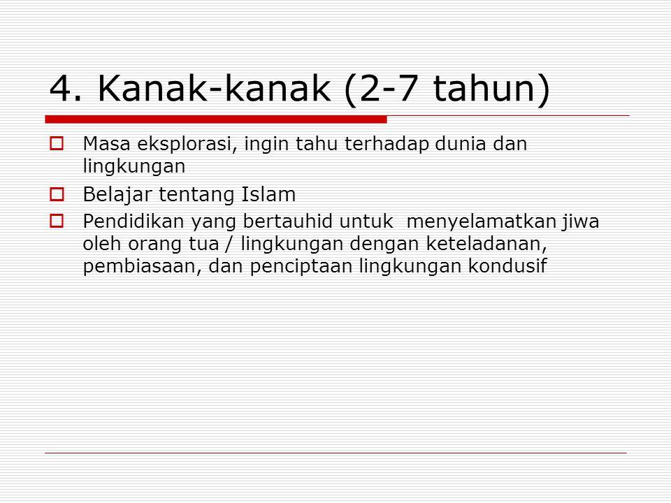4. Kanak-kanak (2-7 tahun) Belajar tentang Islam
