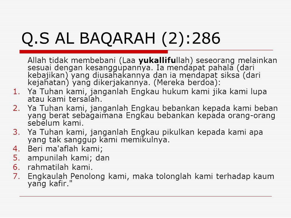 Q.S AL BAQARAH (2):286