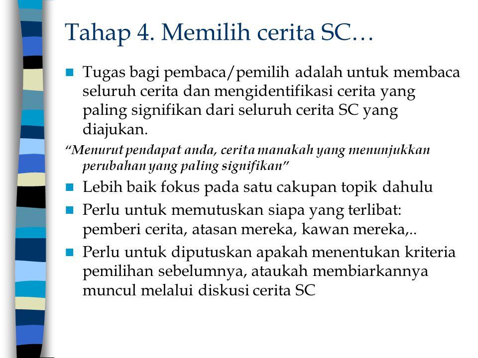 Tahap 4. Memilih cerita SC…