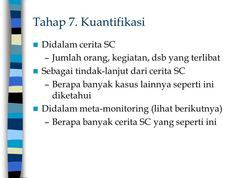 Tahap 7. Kuantifikasi Didalam cerita SC