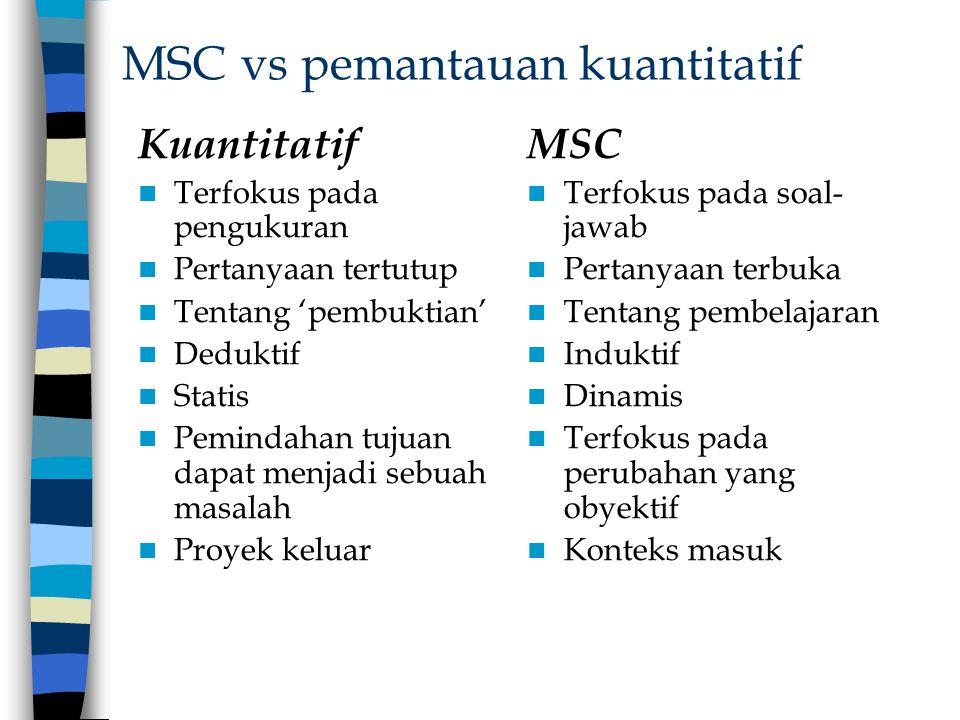 MSC vs pemantauan kuantitatif