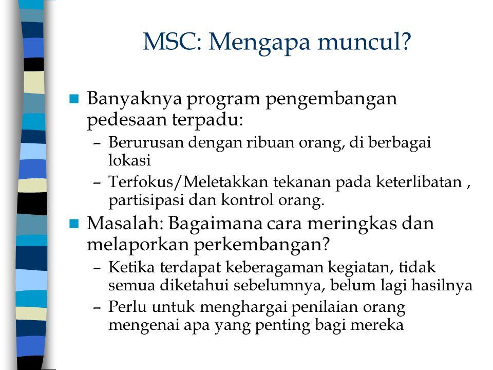 MSC: Mengapa muncul Banyaknya program pengembangan pedesaan terpadu: