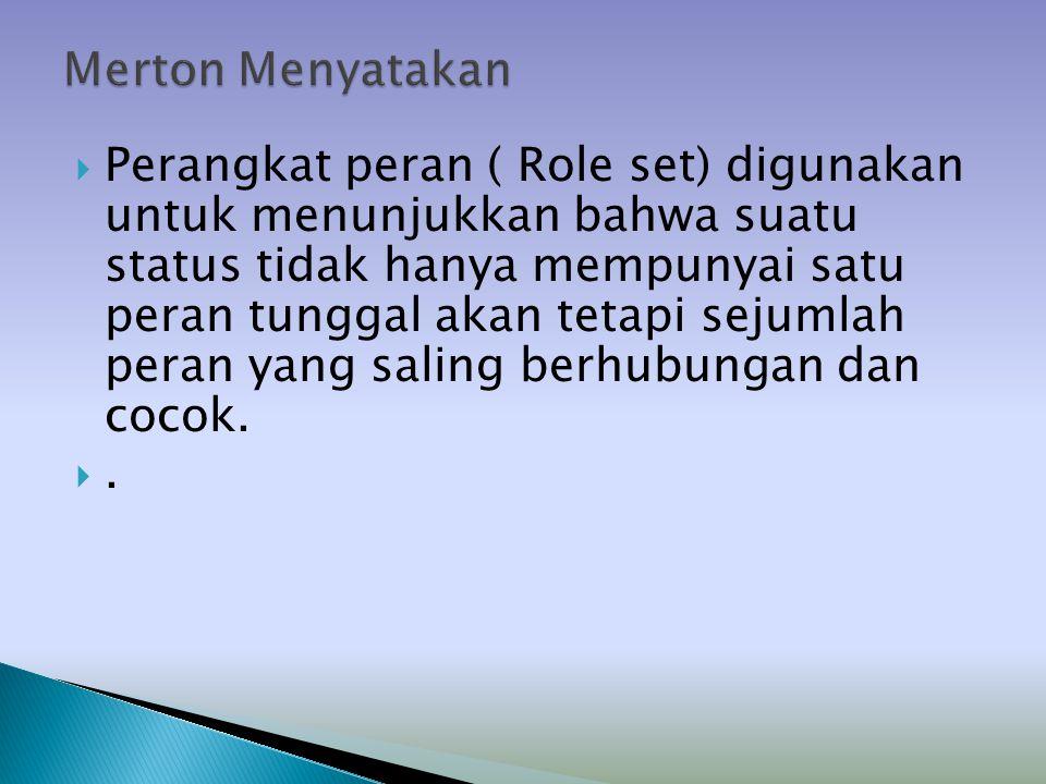 Merton Menyatakan