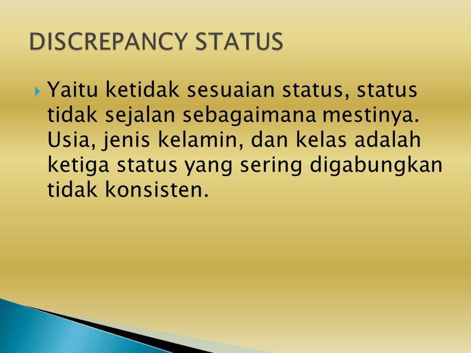 DISCREPANCY STATUS