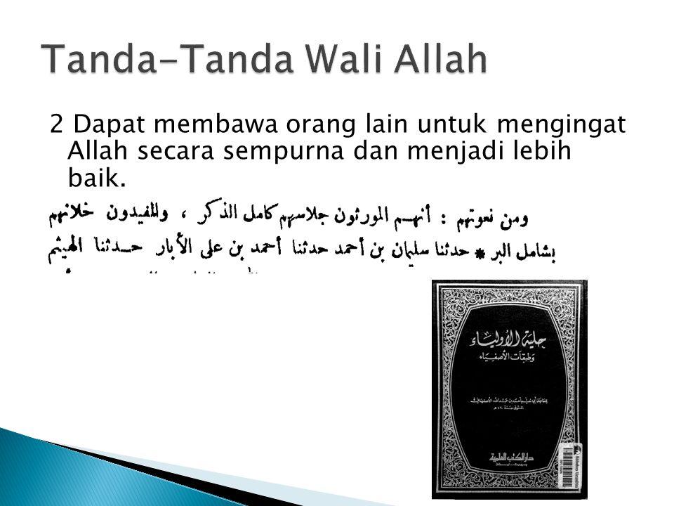 Tanda-Tanda Wali Allah