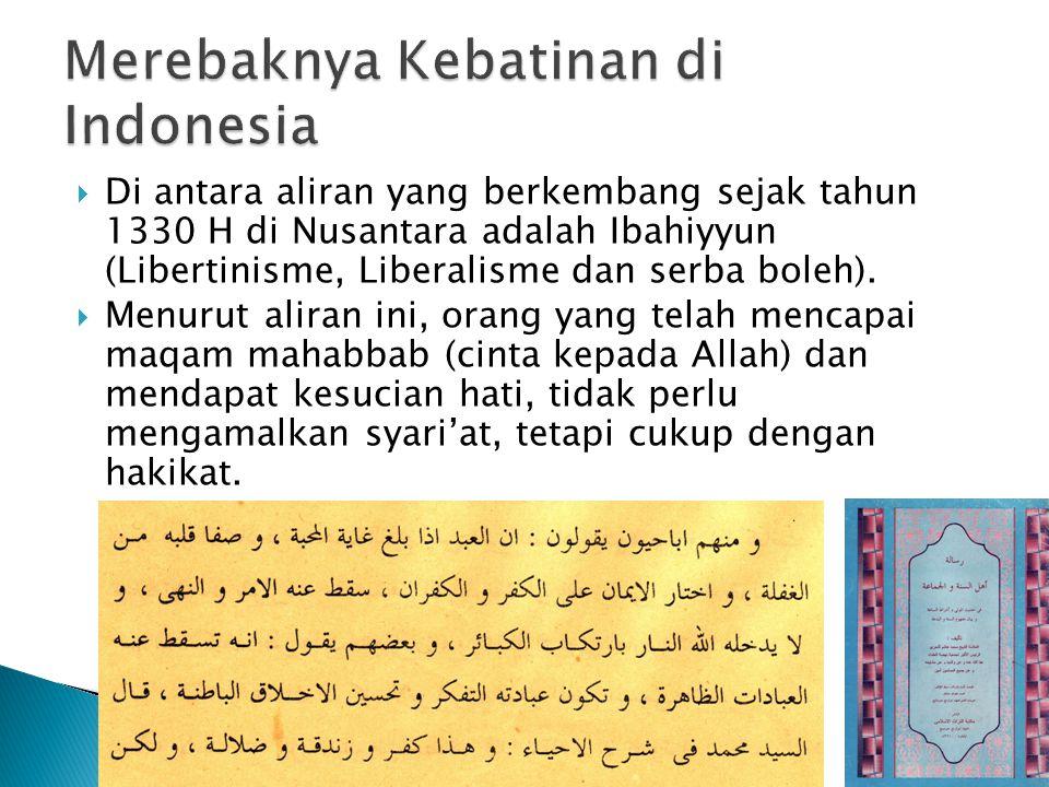 Merebaknya Kebatinan di Indonesia