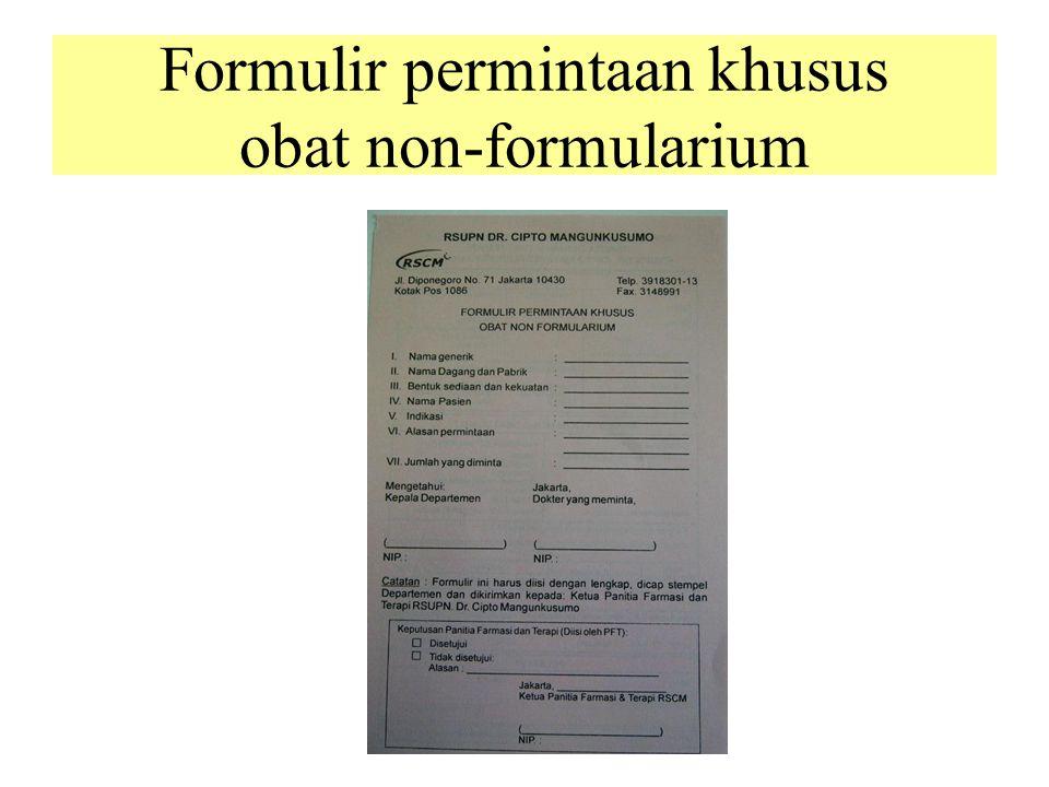 Formulir permintaan khusus obat non-formularium