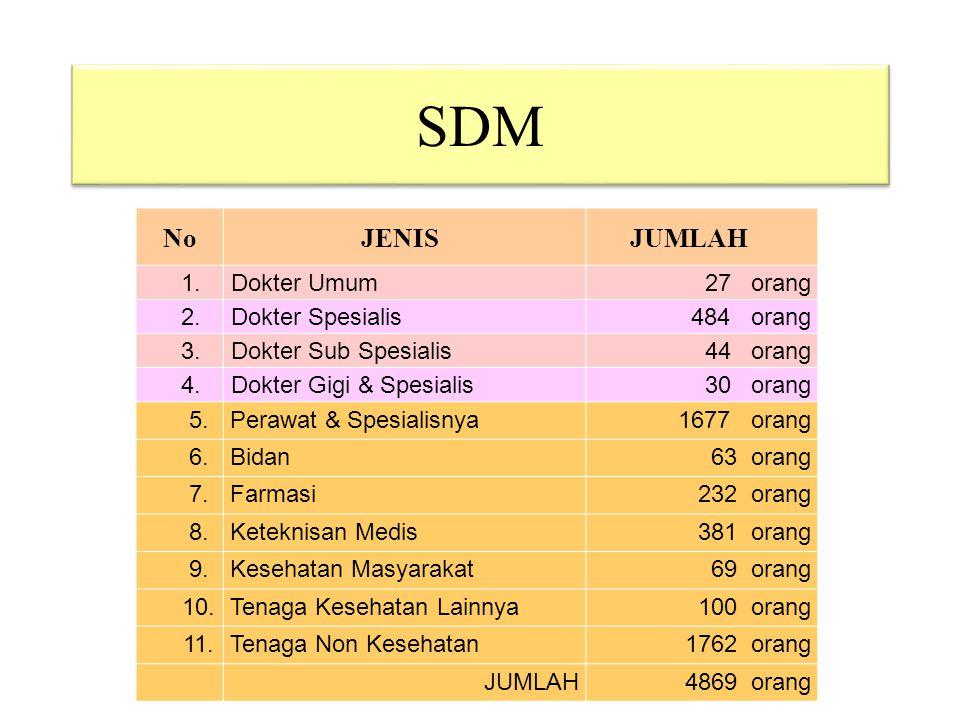 SDM TOTAL + 6.500 orang No JENIS JUMLAH 1. Dokter Umum 27 orang 2.