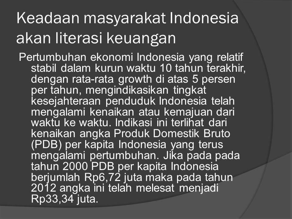 Keadaan masyarakat Indonesia akan literasi keuangan