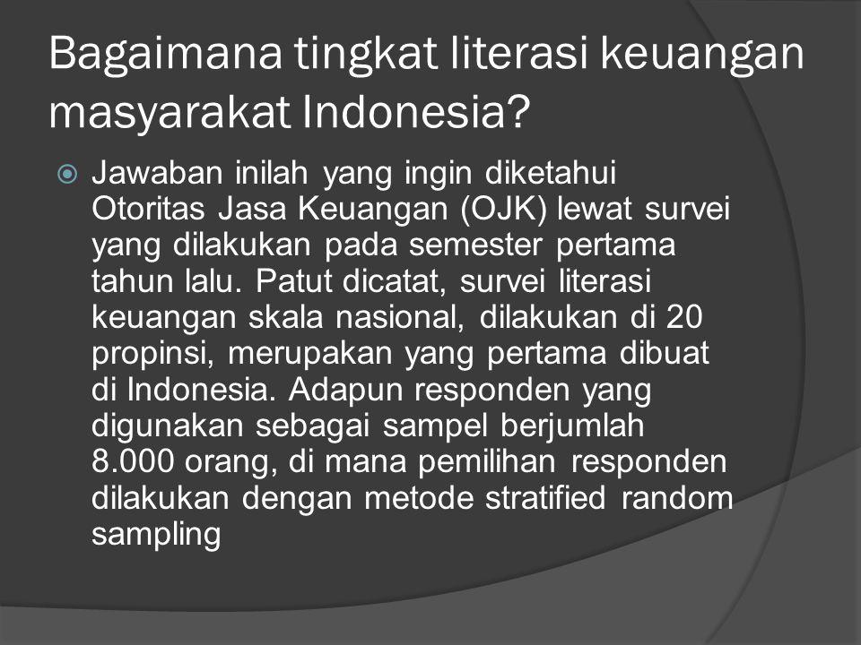 Bagaimana tingkat literasi keuangan masyarakat Indonesia