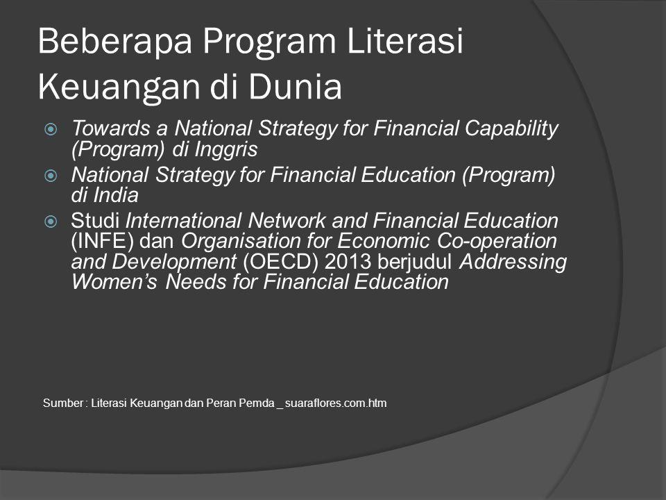 Beberapa Program Literasi Keuangan di Dunia