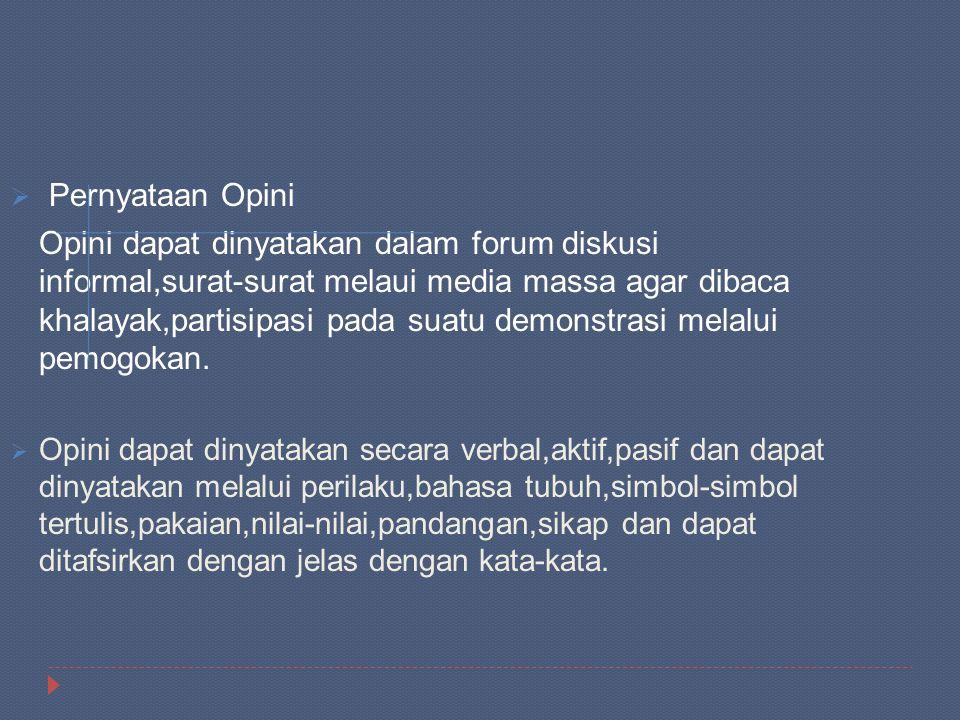 Pernyataan Opini