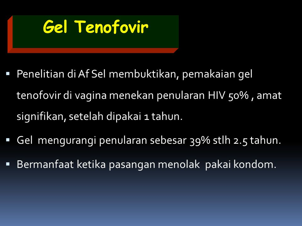 Gel Tenofovir