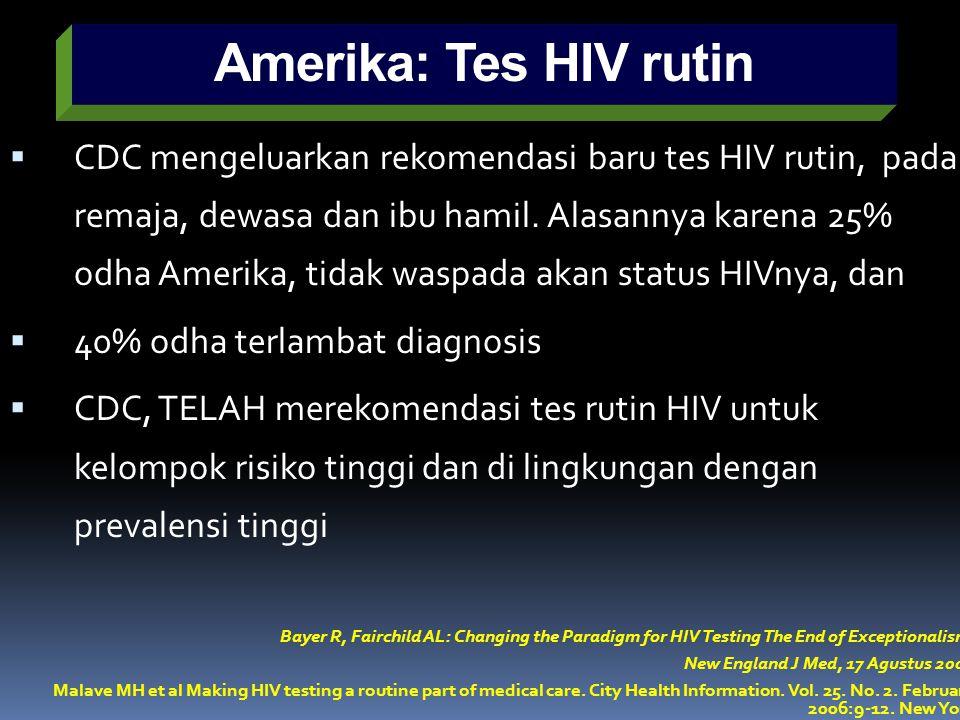 Amerika: Tes HIV rutin
