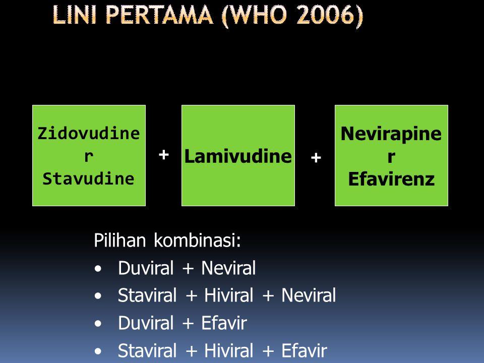 + + Zidovudine r Stavudine Lamivudine Nevirapine r Efavirenz