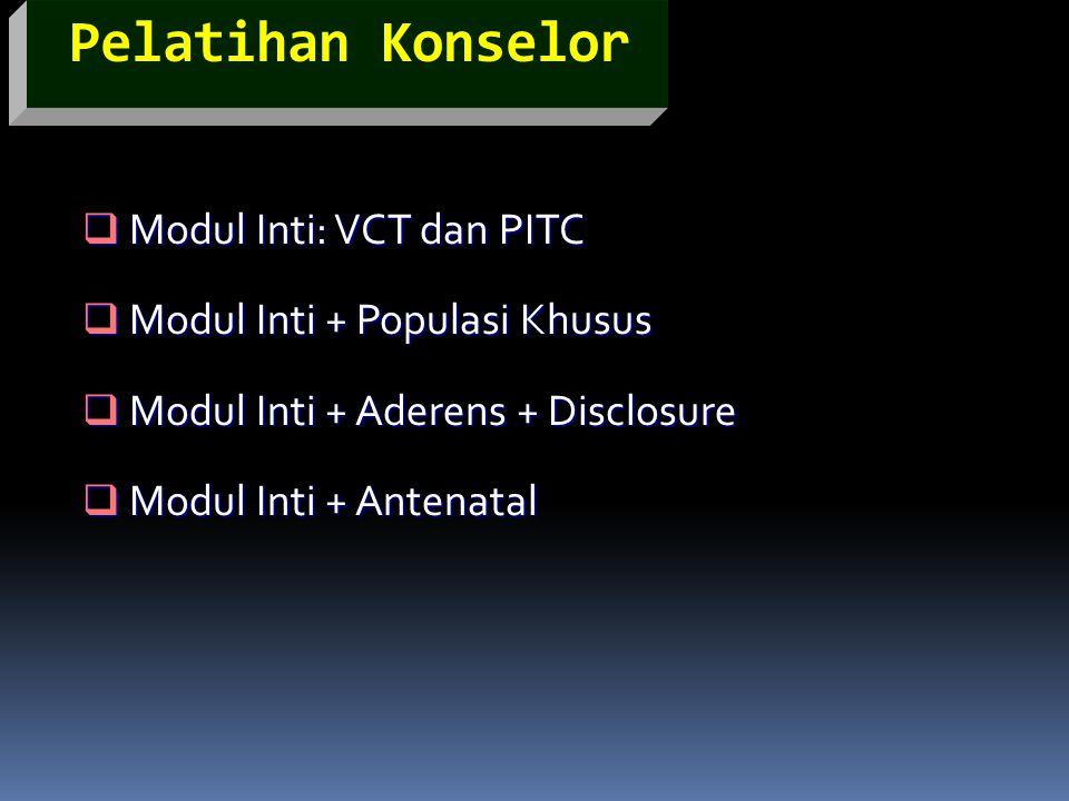 Pelatihan Konselor Modul Inti: VCT dan PITC