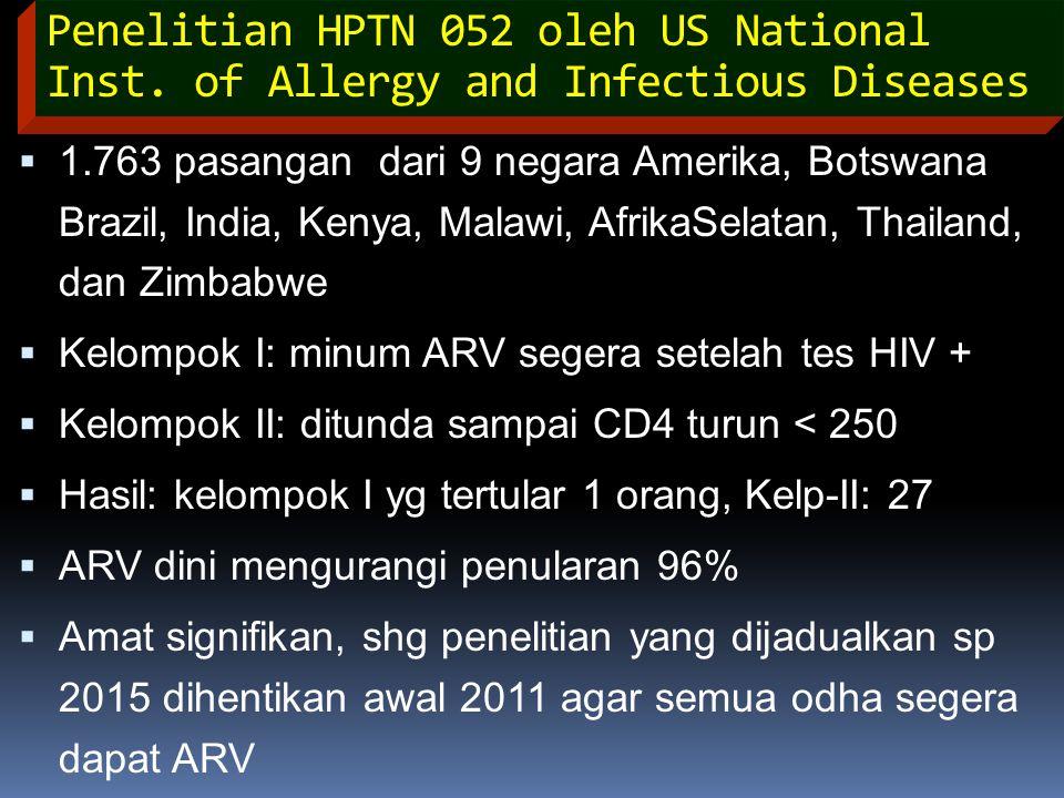 Penelitian HPTN 052 oleh US National Inst