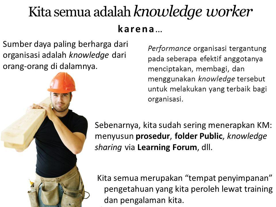 Kita semua adalah knowledge worker