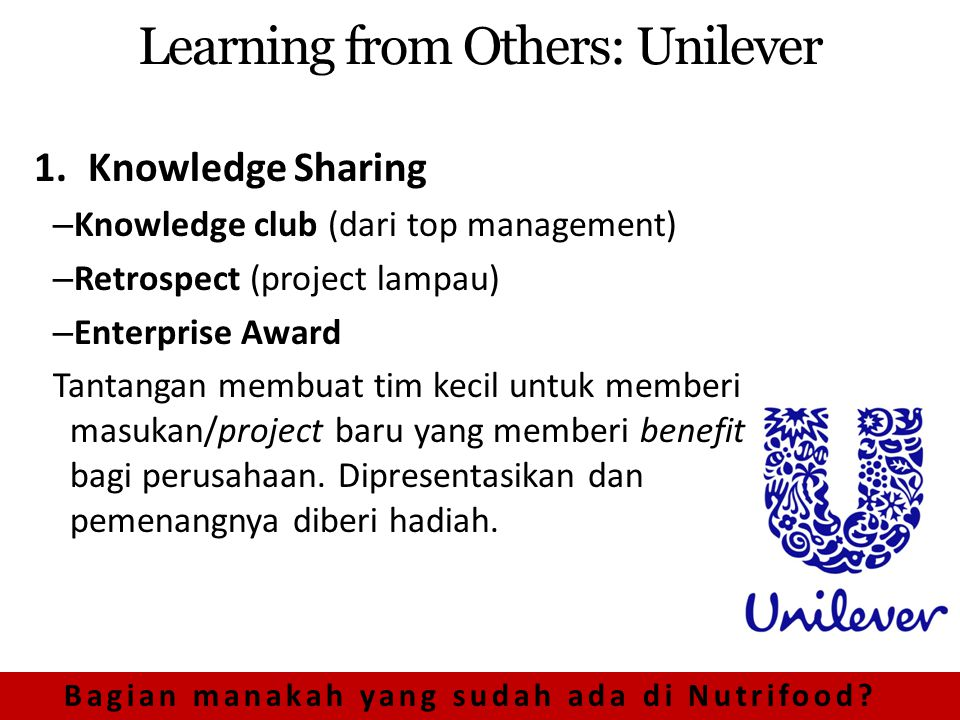 Learning from Others: Unilever