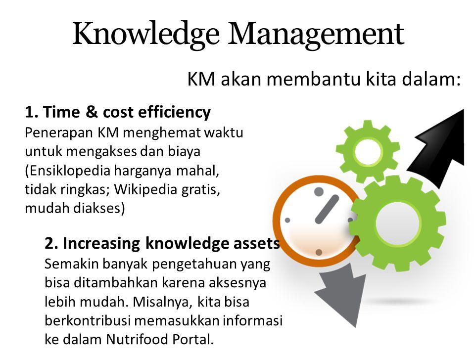 Knowledge Management KM akan membantu kita dalam: