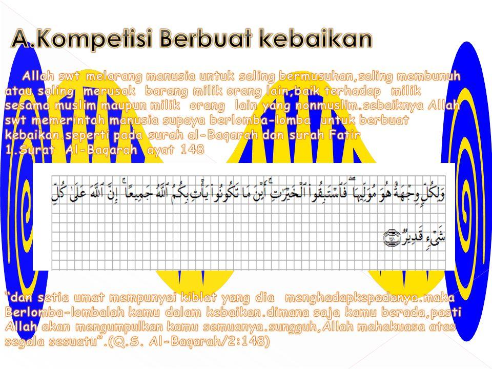 A.Kompetisi Berbuat kebaikan