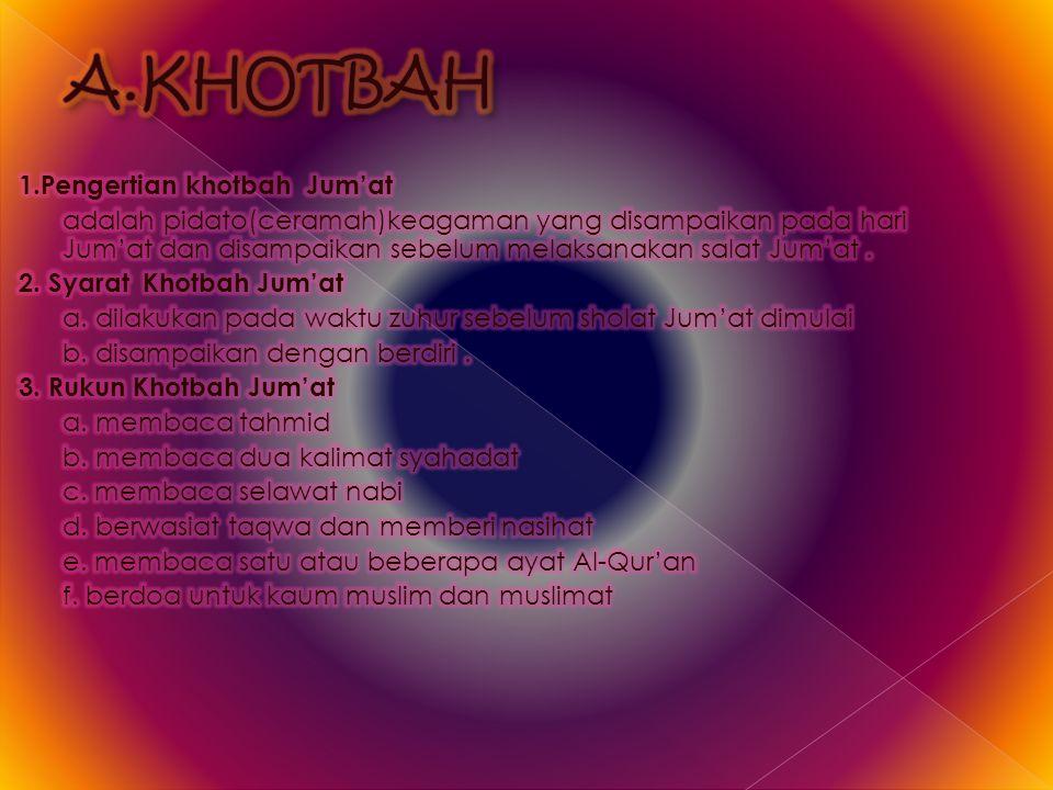 A.KHOTBAH