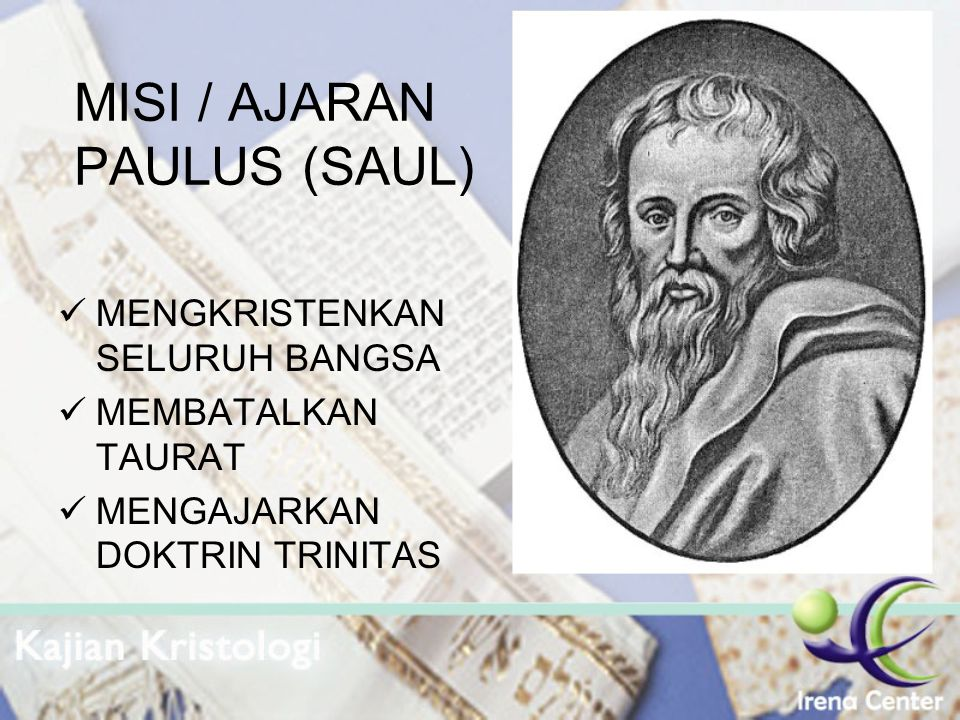 MISI / AJARAN PAULUS (SAUL)