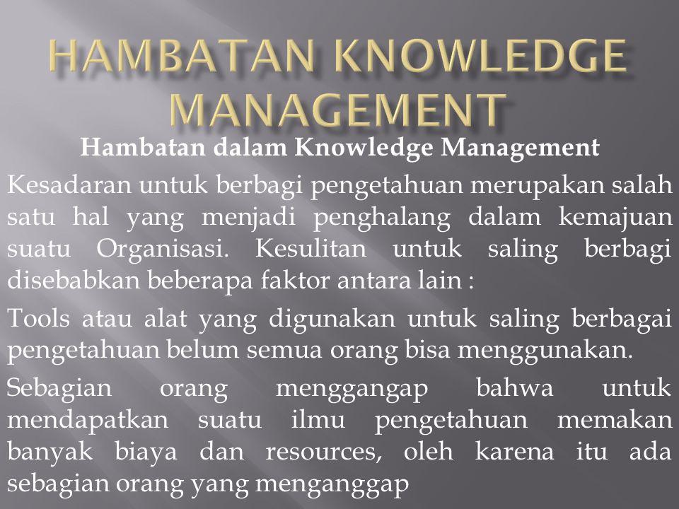 HAMBATAN KNOWLEDGE MANAGEMENT