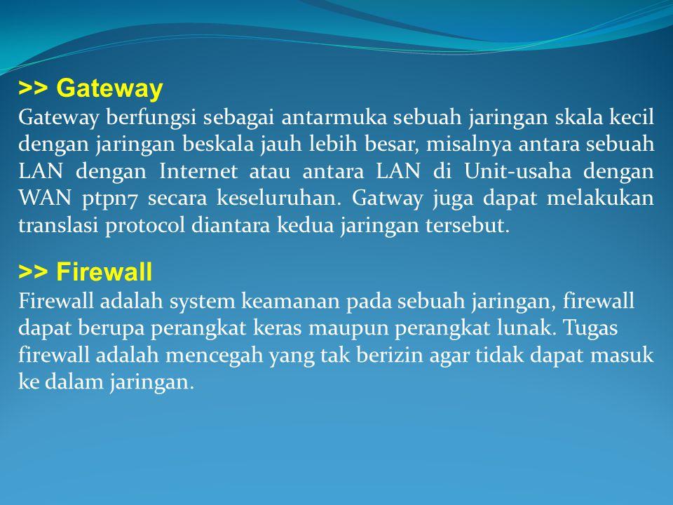 >> Gateway >> Firewall