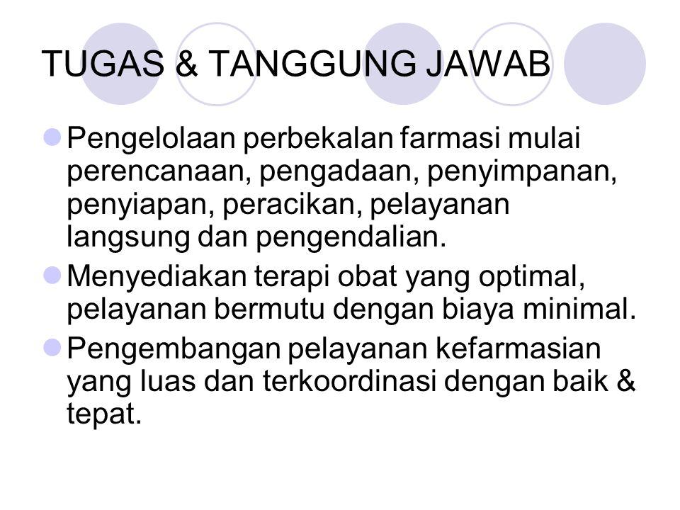 TUGAS & TANGGUNG JAWAB