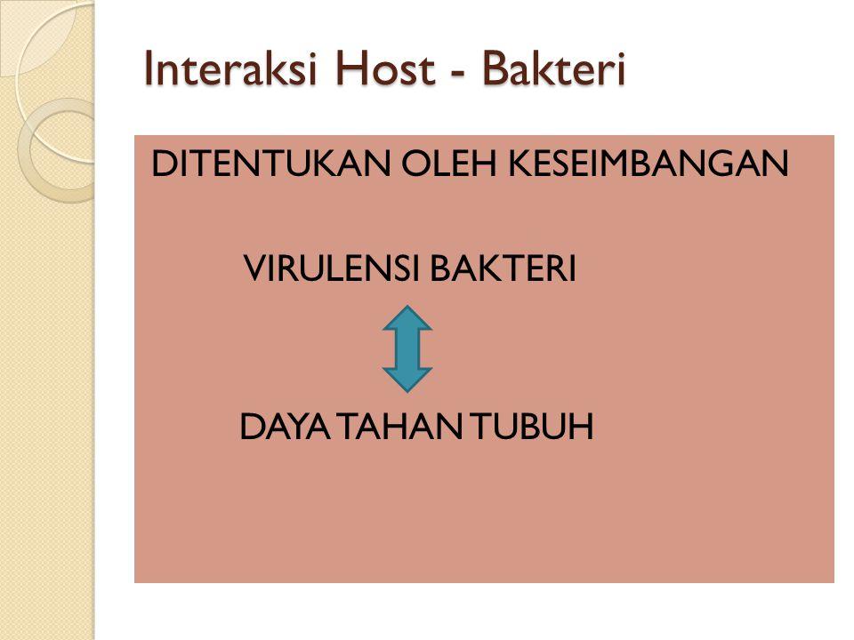 Interaksi Host - Bakteri