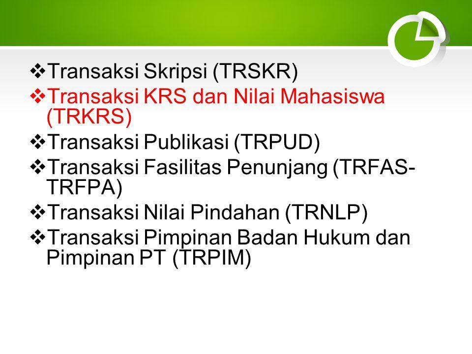 Transaksi Skripsi (TRSKR)
