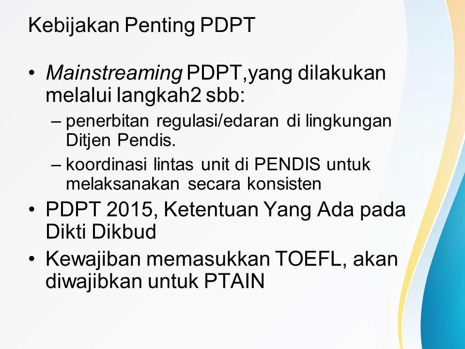 Kebijakan Penting PDPT